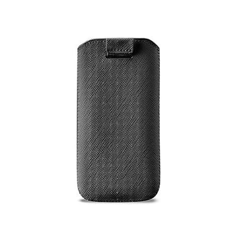 Puro - Carcasa de cuero ecológico para iPhone 5, color negro