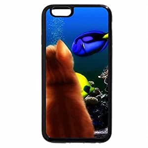 iPhone 6S / iPhone 6 Case (Black) Kitten Face Profile