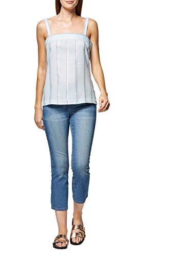 next Mujer Camiseta De Tirantes Rayas Metalizadas Petite Azul