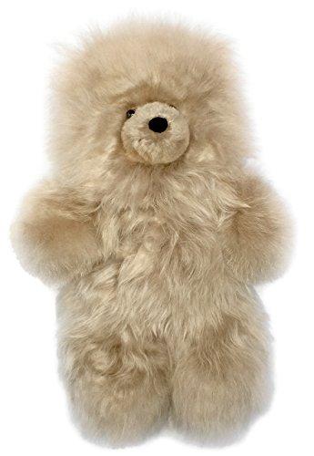 Baby Alpaca Fur Teddy Bear - Hand Made 12 Inch Platinum Blonde