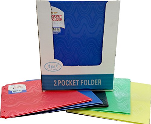 Two Pocket Plastic Folders - ''Snap In'' - 9.5''x11.5'' 48 pcs sku# 1294684MA by DDI