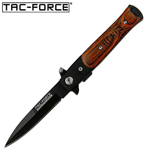 GIFTS INFINITY Free Engraving - Tac-Force Titanium Coated Stainless Steel Quality Pocket Knife - Brown Knife Steel Stainless