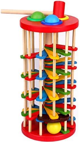 LIPETLI Sabiduría Color Golpe Pelota Torre Tradicional Jenga Juguetes Torre Bloques Juguete Habilidad Educativo Juego Equilibrio Torre Madera Apilamiento Bloques Madera Niños Family: Amazon.es: Deportes y aire libre