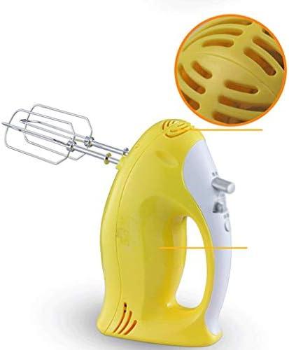 Mignon jaune électrique Eggbeater, réglage à cinq vitesses, un bouton de conception d'accélération, Handheld Mixer JIAJIAFUDR (Color : -, Size : -)