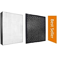 High Performance Compatible Filter Set for Philips Model AC 2887/2882 NanoProtect 2000 Series True HEPA + CARBON Set Filter of Air Purifier