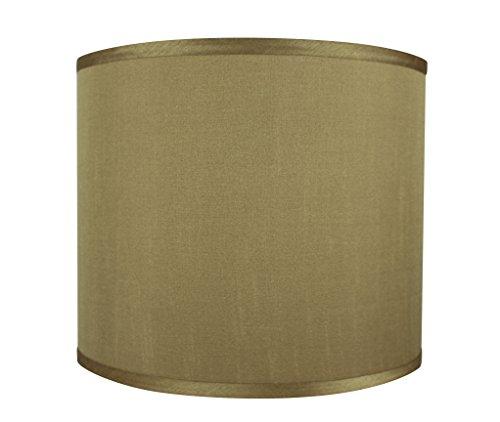 Gold Silk Shade (Urbanest Faux Silk Drum Lampshade, 12-inch by 12-inch by 10-inch, Gold, Spider Fitter)