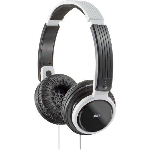 Jvc Folding Headphone (JVC HAS200W On-Ear Foldable Headphone, White/Black)