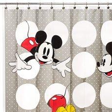 Disney Mickey Vinyl Shower Curtain - Eco-friendly & Chlor...