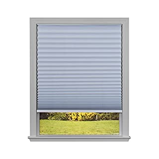 """Easy Lift Trim-at-Home Cordless Pleated Light Blocking Fabric Shade White, 48 in x 64 in, (Fits windows 31""""- 48"""")"""