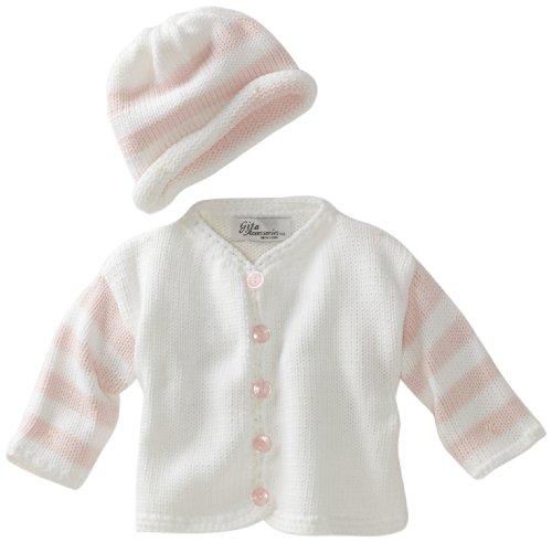 Gita Accessories Baby-Girls Newborn Hand Loomed Sweater And Hat Set
