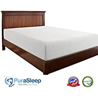 PuraSleep Synergy Luxury Cool Comfort Memory Foam Mattress - Made In The USA - 10 Year Warranty, Queen