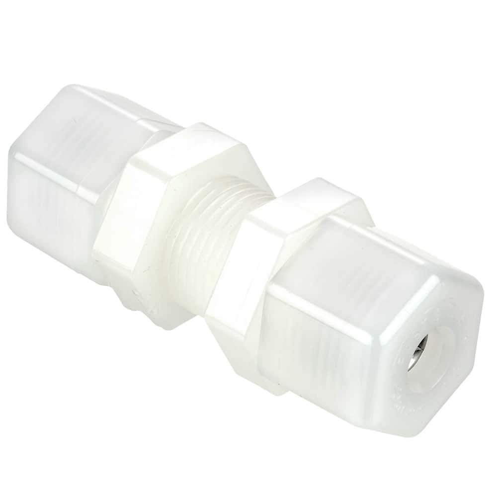 1//2 Compression Tube x 1//2 Compression Tube Nylon White Pack of 5 Parker Hannifin N8BU8-pk5 Fast and Tite Bulkhead Union Fitting