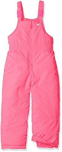 Carter's Baby Toddler Girls' Her Classic Bib Snowpant, Pink Puffin Neon, 4T
