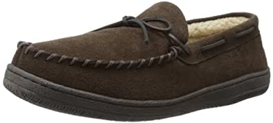 Hideaways by L.B. Evans Men's Morgan Moccassin,Chocolate,8 M US