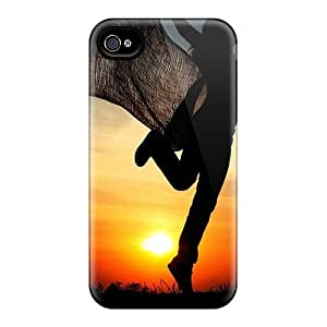MeSusges Iphone 4/4s Well-designed Hard Case Cover Women Sunset Nature Colors Protector