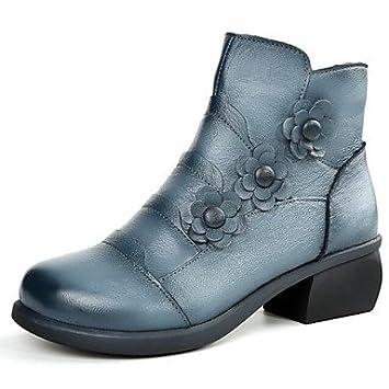 RTRY Zapatos De Mujer Cuero Nappa Primavera Otoño Moda Botines Botas Botas/Botines Botas Mid