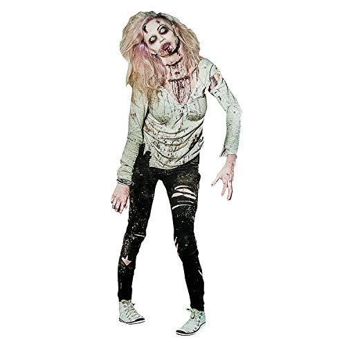 Movable Zombie Woman Cutout - Halloween Party Decorations -
