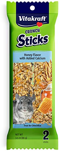 - Vitakraft Chinchilla Treat Sticks With Added Calcium 2 Pack,  3.5 Ounce