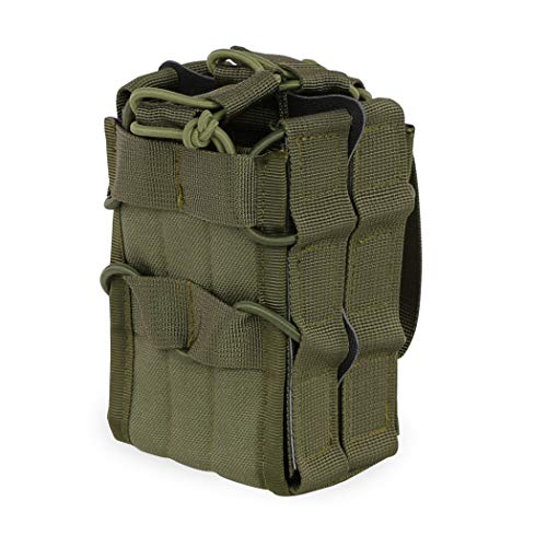 Aoutacc Tactical Mag Pouch, Double Stacking Kangaroo Rifle Magazines Pouch for M4 M14 M16 Magazines (OD Green) ()