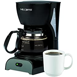 Mr. Coffee Simple Brew 4-Cup Coffee Maker, Black