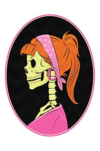 Skull Cameo Red Head Retro Art Print Mural Giant Poster 36x54 inch