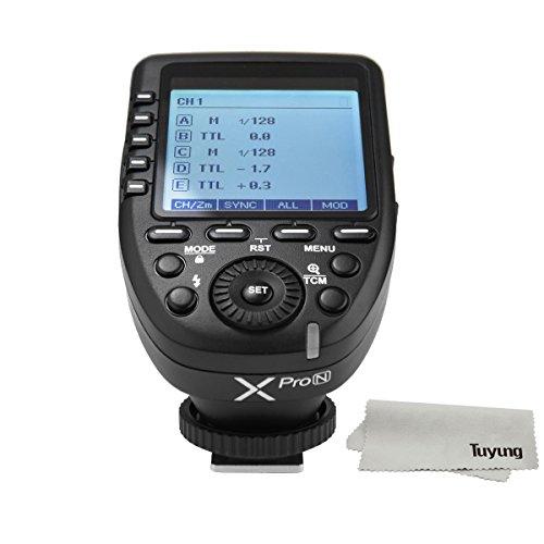 Godox Xpro-N E-TTL II 2.4G Wireless Flash Trigger High Speed Sync 1/8000s X system High-speed with Big LCD Screen Transmitter For Nikon DSLR Camera by Godox