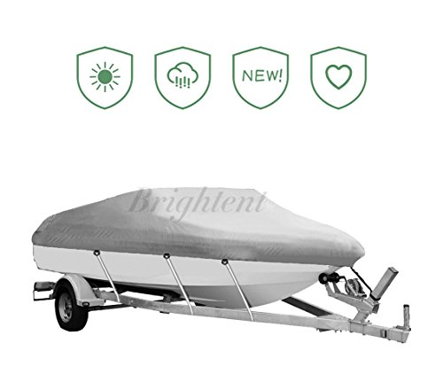 Waterproof 17' to 19' Boat Cover Trailer Fishing V Hull Runabout Storage XBT2G V-hull Fishing Boat Cover