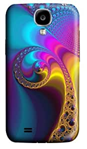 Peacock Fractal Polycarbonate Hard Case Cover for Samsung Galaxy S4/Samsung Galaxy I9500 3D