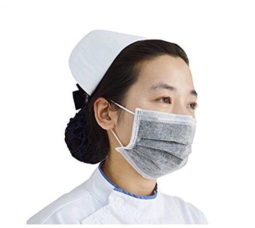 4 Layer Disposable Activated Carbon Earloop Dust Face Mask Mouth Cover Safety Respirator Home and Surgical Dust Filter Anti-Fog Anti-dust Mask for Men and Women -
