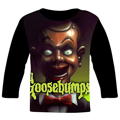 Anuava G-oosebumps S-lappy's R-evenge Dummy Boys Girls T Shirt Graphic Long Sleeve Crew Top Blouse Black -