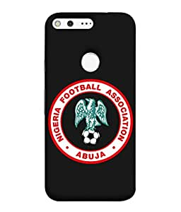 colorking Football Nigeria 03 Black shell case cover for Google Pixel XL