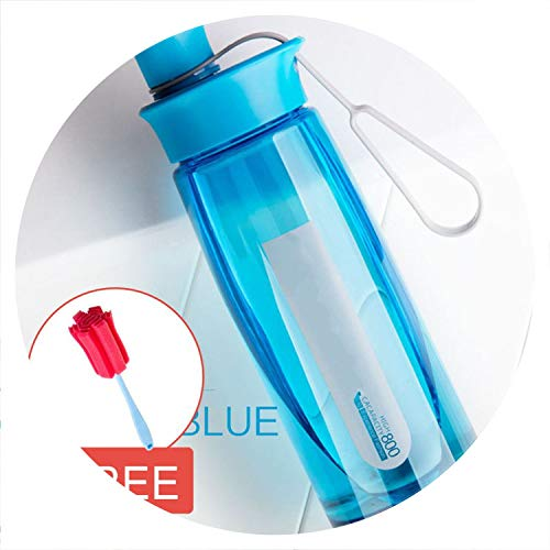 - one- Water Bottle Protein Shaker Portable Bottle Sports Camping Hiking Water Bottle with Tea Infuser Plastic Cup 600/800/1000Ml,United States,800Ml,Blue