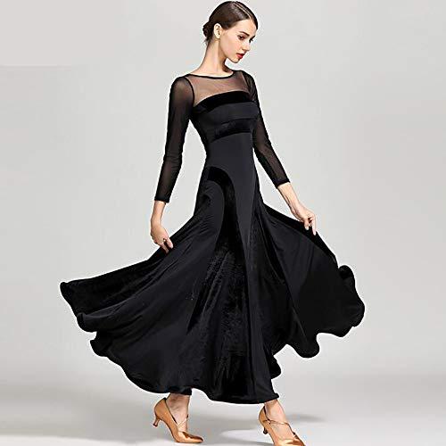 Per Rumba Abiti Tango Ballo Symbollife m Velluto Ragazze Donne Ritmo Latino Abito Seta Di Le Sala Dress Samba Dance Cpdz Signore Da Nero Salsa qtR1wdd