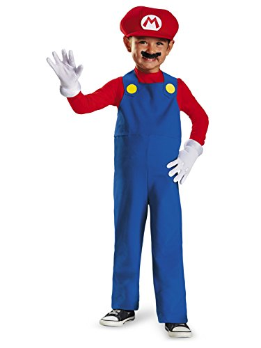 Nintendo Super Mario Brothers Mario Boys Toddler Costume, Medium/3T-4T ()