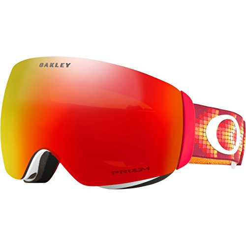 Oakley Flight Deck XM Snow Goggles, Digi Snake Red, - Oakley Goggles Red Ski