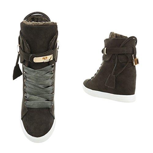Ls3002 Ital Freizeitschuhe Design Grün high Damenschuhe Sneakers 0WWTRZg7