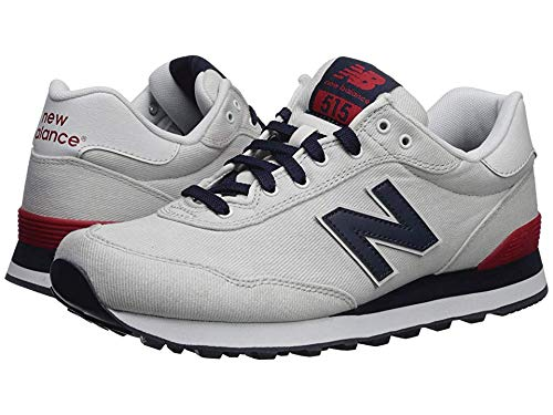 New Balance Men's 515v1 Sneaker, Nimbus Cloud/NB Navy/RED, 11 D US