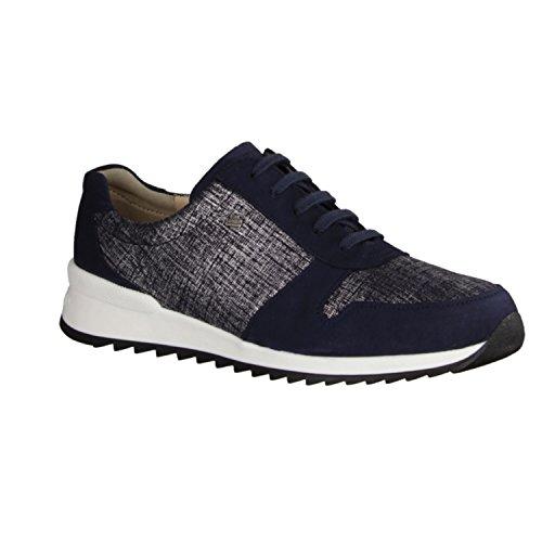 Finn Comfort Sidonia - Zapatos de cordones de Piel para mujer Azul