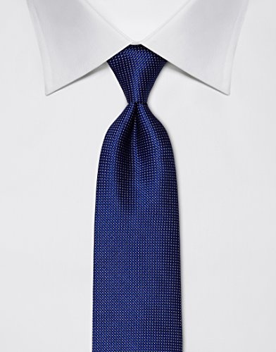 Vincenzo Boretti Men's silk tie polka dot pattern dark blue by Vincenzo Boretti (Image #2)