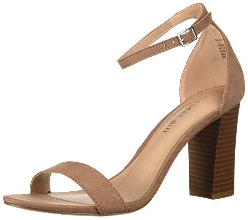 (Madden Girl Women's BEELLA Heeled Sandal, Caramel, 8.5 M US)