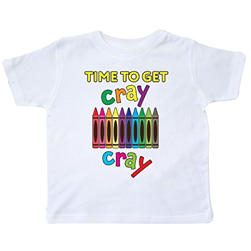 inktastic - Time to Get Cray Cray Crayons Humor Toddler T-Shirt 2T White 28b39
