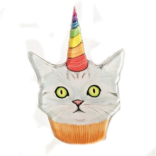 Cupcake Brooch (Acrylic Cat Unicorn