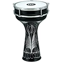 Meinl Percussion HE-124 Hand Engraved Aluminum Darbuka With Synthetic Head, 8-Inch
