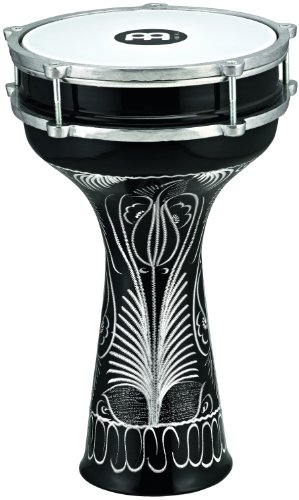 Aluminum Doumbek Drum (Meinl Percussion HE-124 Hand Engraved Aluminum Darbuka With Synthetic Head, 8-Inch)