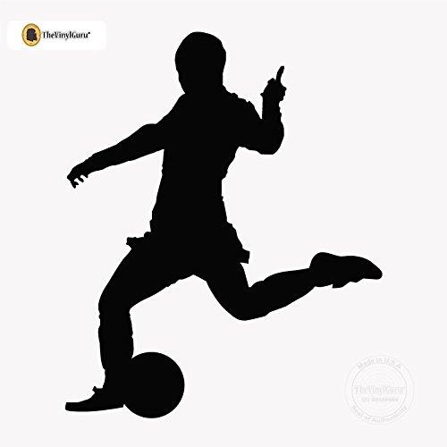 Cheap  Soccer Wall Decals by TheVinylGuru - Male Futbol Player Art Mural -..