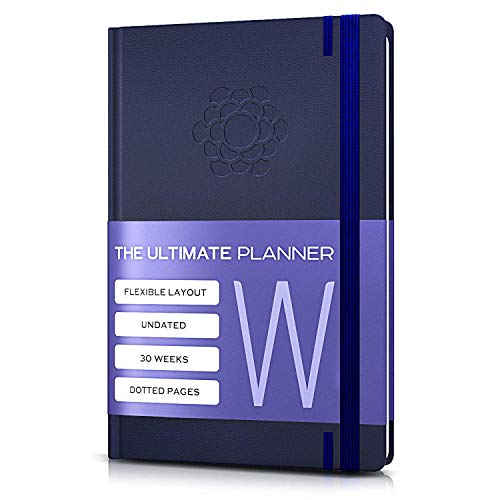 - Bullet Planner w/Pen Holder | 30 Weeks | Undated Daily & Weekly Agenda Planner, Organizer, Monthly Calendar | 67 Blank Dotted Pages