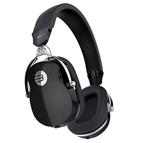 Over Ear Wired Headphones, BYZ Professional HiFi Stereo Headpset, Deep Bass, Built-in Mic, Foldable/Soft Earmuffs for Studio Monitoring, DJ and Home Entertainment, Black