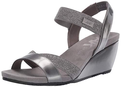 - Anne Klein Women's Clovis Wedge Sandal, Pewter, 10 M US