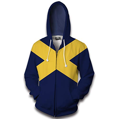 Superhero Hoodie Rogue Cosplay Costume Fashion Sweatshirt Jacket Halloween Coat S
