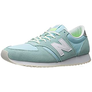 New Balance Women's 420 70S Running Lifestyle Fashion Sneaker, Ozone Blue Glo/White, 7.5 B US